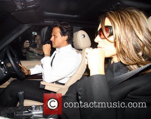 Elizabeth Hurley and Arun Nayar Guests attend Elton...