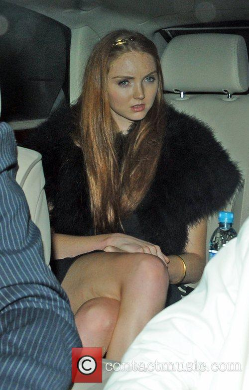 Lily Cole Guests attend Elton John's White Tie...
