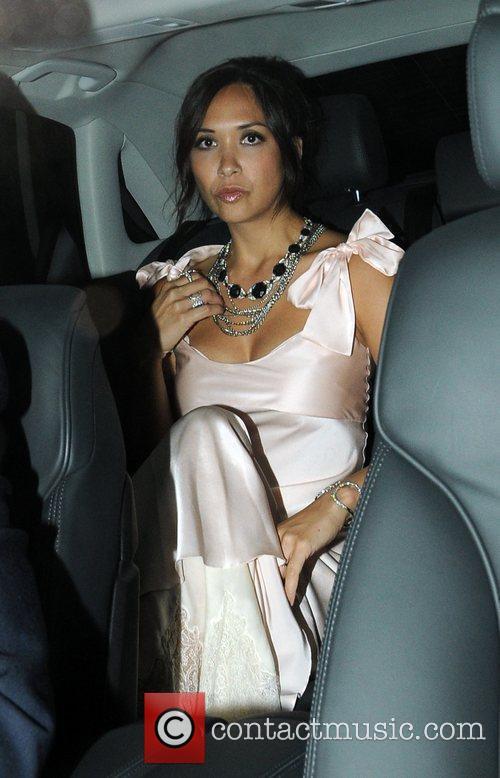 Myleene Klass Guests attend Elton John's White Tie...