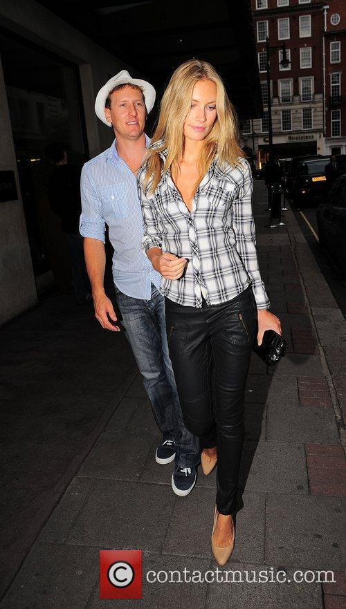 Brendan Cole and his wife Zoe Hobbs outside...