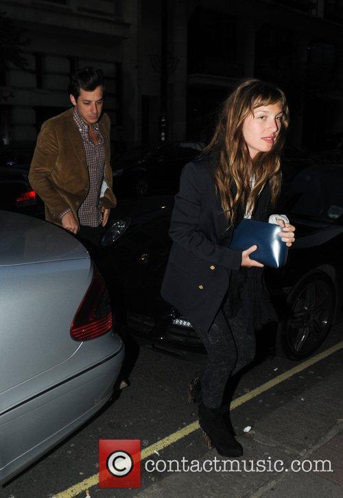 Mark Ronson and girlfriend Josephine De La Baume...