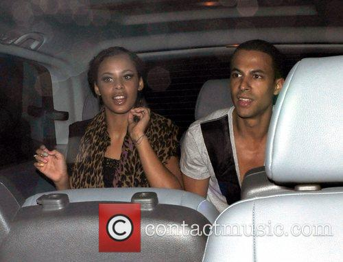 Rochelle Wiseman of The Saturdays and Marvin Humes...