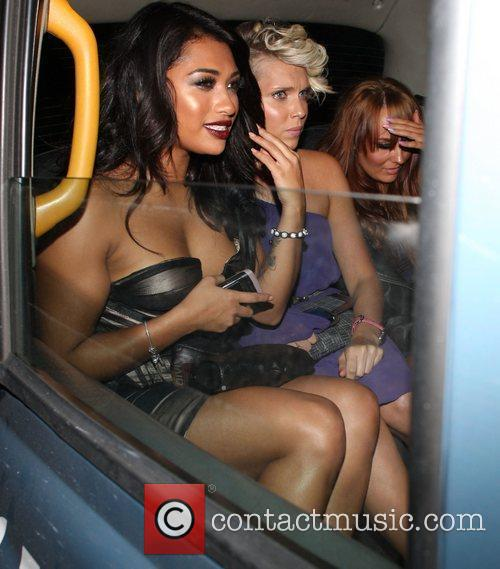 Vanessa White celebrities outside The May Fair Hotel...