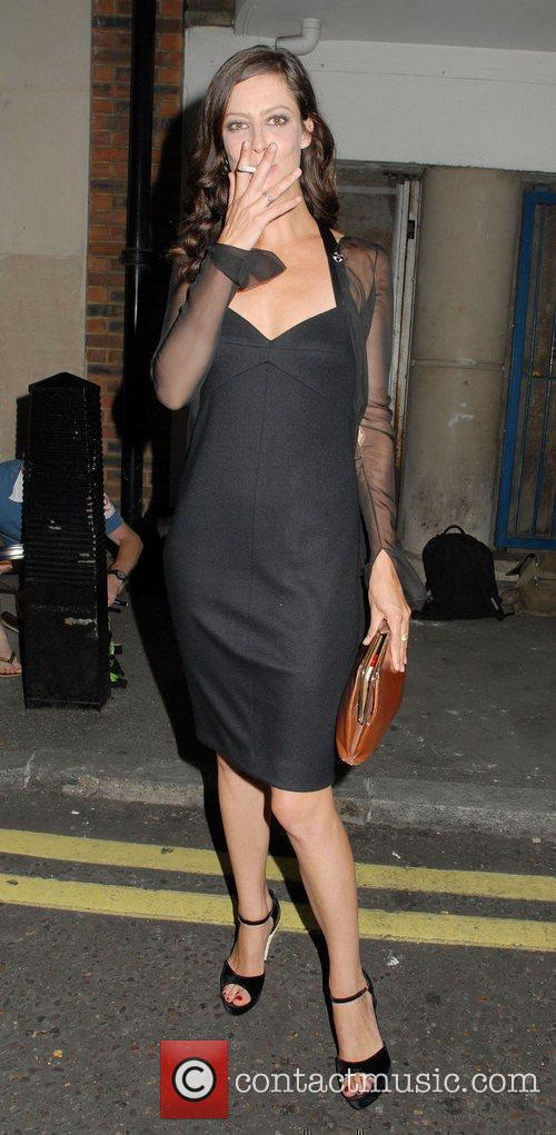 Anna Mouglalis outside her Hotel in London