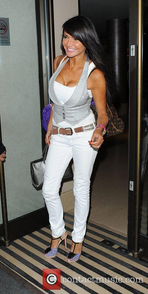 Lizzie Cundy at the May Fair hotel London,...