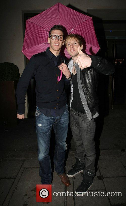 Cardiff City FC players Mark Hudson and Andrew...