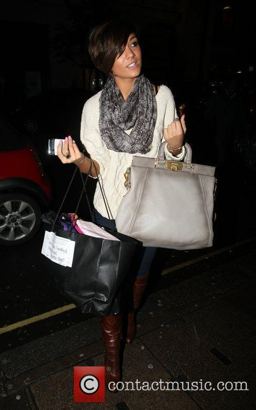 Frankie Sandford arrives at the May Fair hotel...