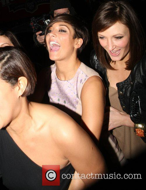 Frankie Sandford leaves the May Fair hotel with...
