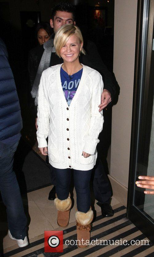 Kerry Katona leaves the May Fair hotel London,...