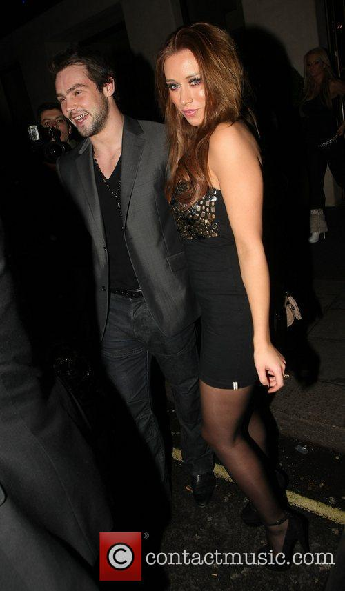 Ben Foden and Una Healy leave the May...