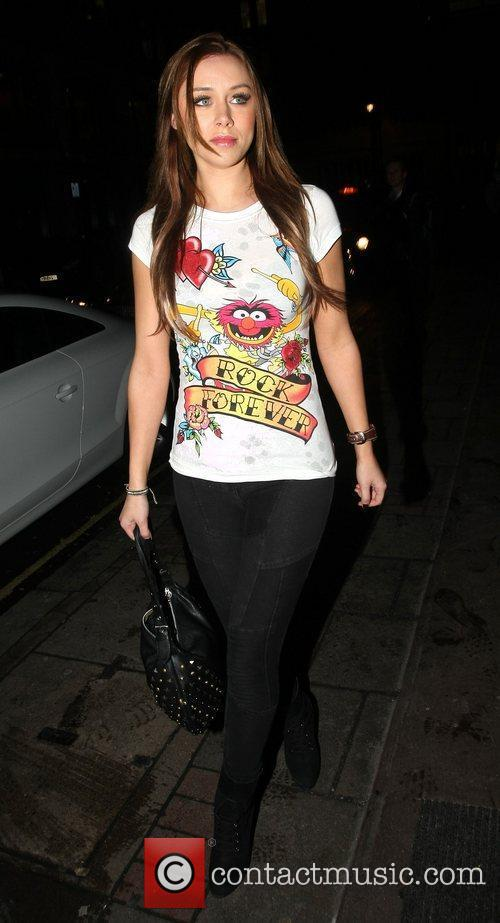 Una Healy arrives at the May Fair hotel...