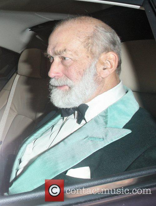 Prince Michael of Kent driven in his car...