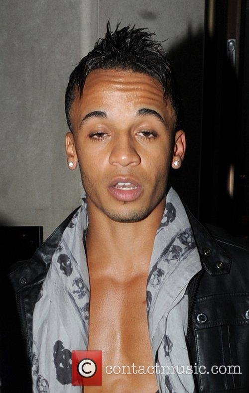 Aston Merrygold leaving the Mayfair hotel