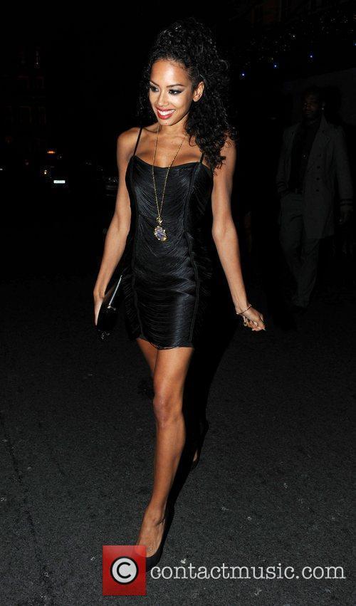 Jade Ewan leaving the Mayfair hotel London, England