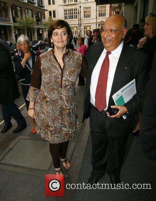 Cherie Blair outside the May Fair Hotel London,...