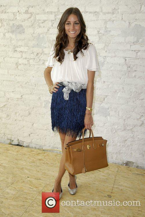 Olivia Palermo attends the Markus Lupfer presentation at...