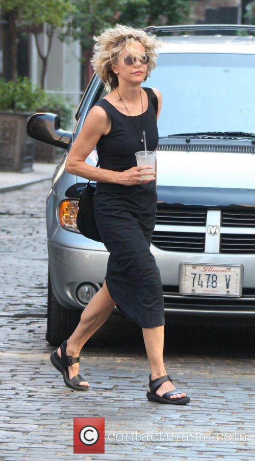 Meg Ryan out and about in sandals and...