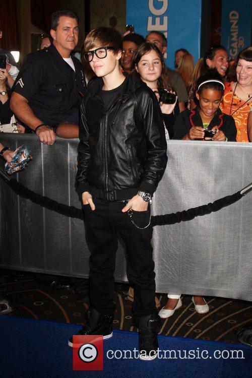 Justin Bieber Los Angeles premiere of 'Megamind' at...
