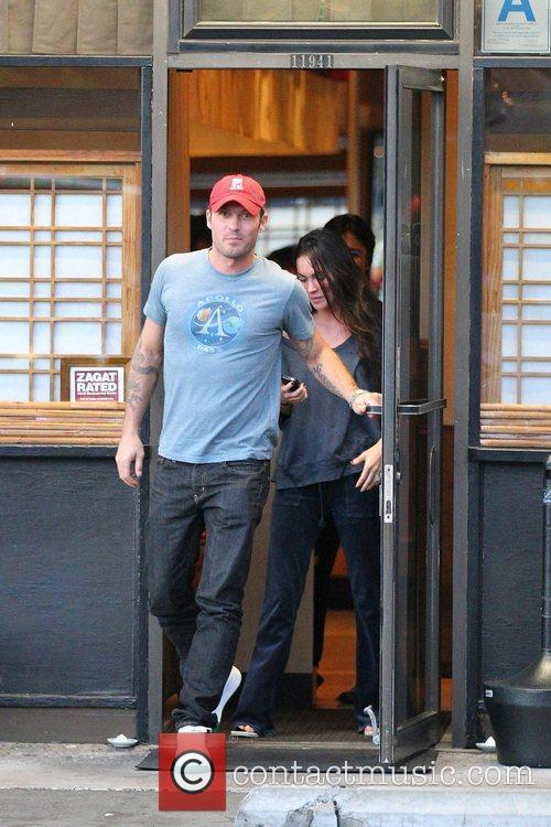 Megan Fox and Brian Austin Green leaving Asanebo...