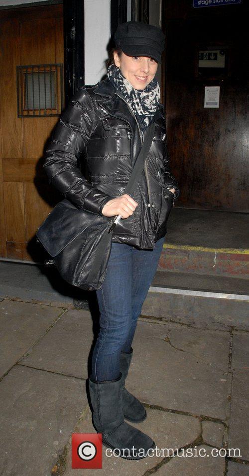 Melanie Chisholm departs the Phoenix Theatre after performing...