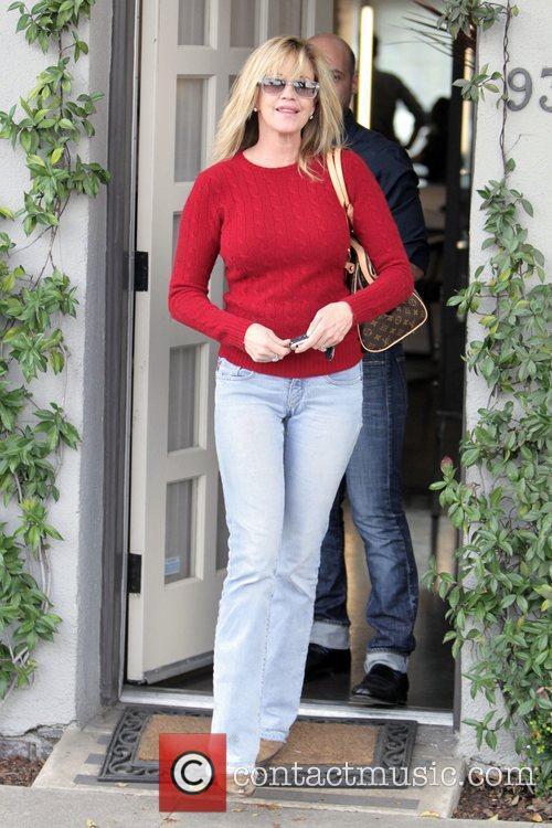 Melanie Griffith  leaves Neil George salon in...
