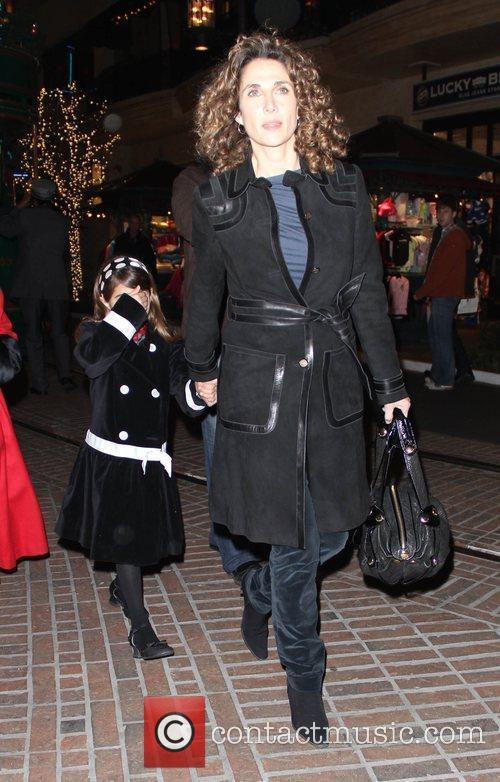 Melina Kanakaredes takes her daughter Christmas shopping in...