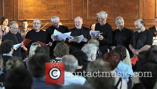 Singing group Fab Cab performing live at the...