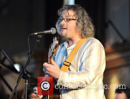 Singer Luke Jackson performing live at the Robert...