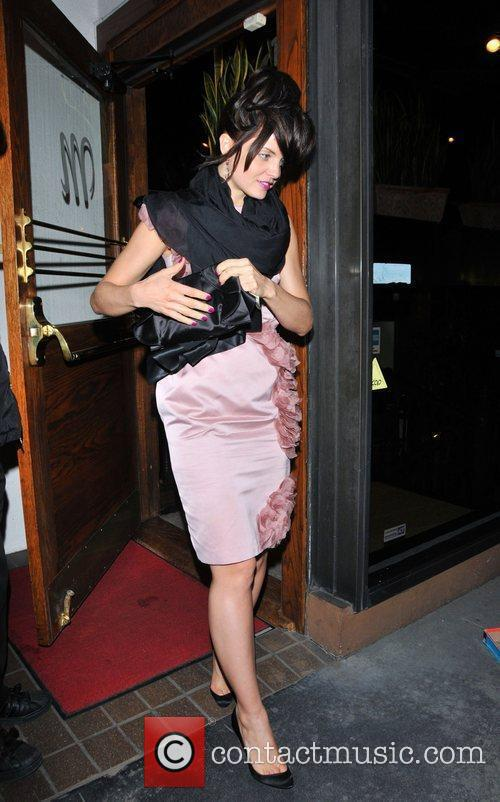 Mena Suvari leaves Madeo Restaurant in West Hollywood...