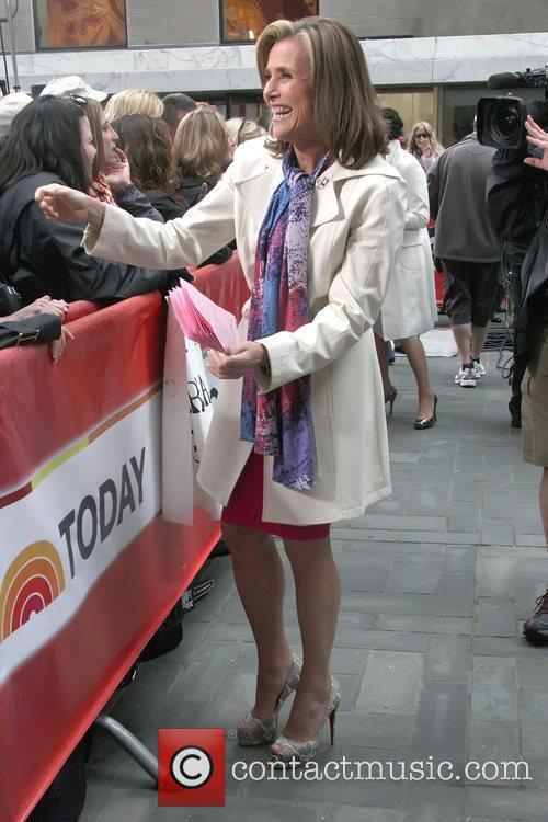 Anchorwoman Merdedith Viera outside NBC's Today show studios...