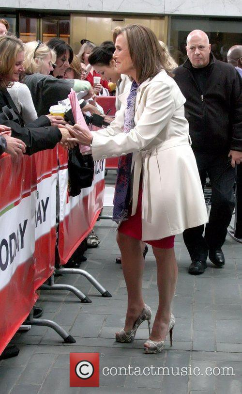 Outside NBC's Today show studios