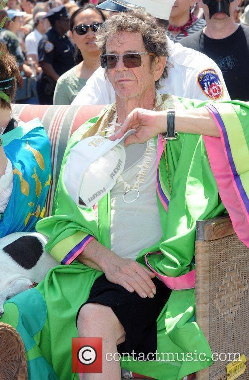 Lou Reed 2010 Mermaid Parade in Coney Island...
