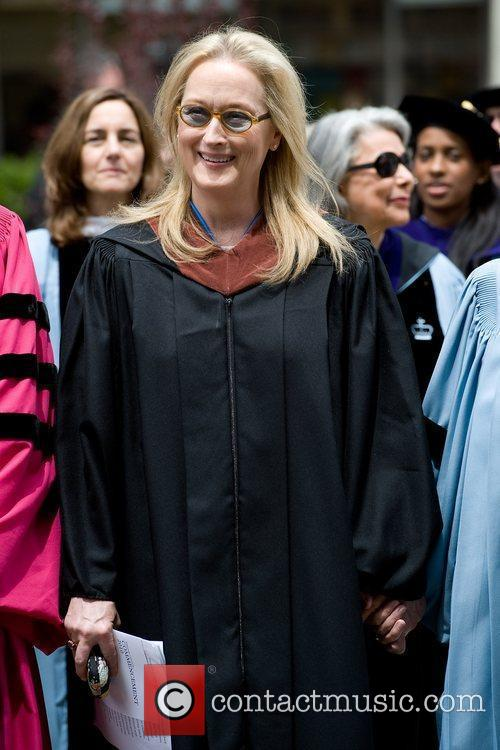 Meryl Streep delivers the commencement address at Barnard...