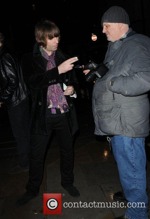 Liam Gallagher,  at the Met Bar. London,...