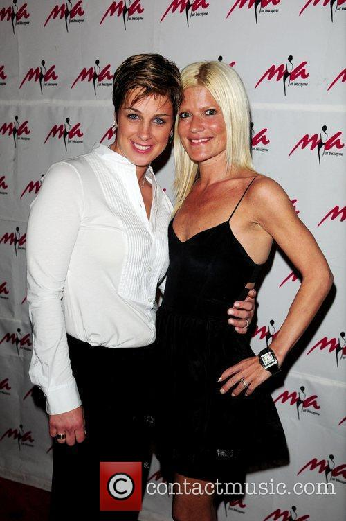 DJ Tracy Young and Lizzie Grubman arrive at...