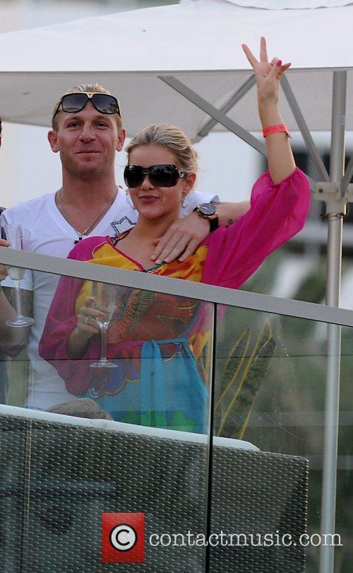 Soccer player Andriy Voronin and wife Yulia Voronin...