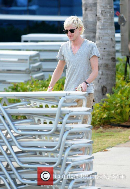 Tom Felton at the beach on New Year's...