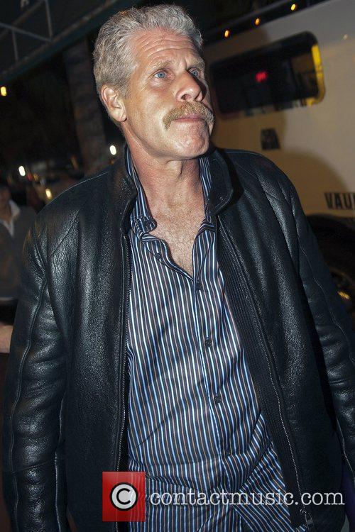 Ron Perlman outside Mansion nightclub