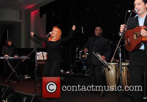 Singer Albita performs at the Miami Children's Hospital...
