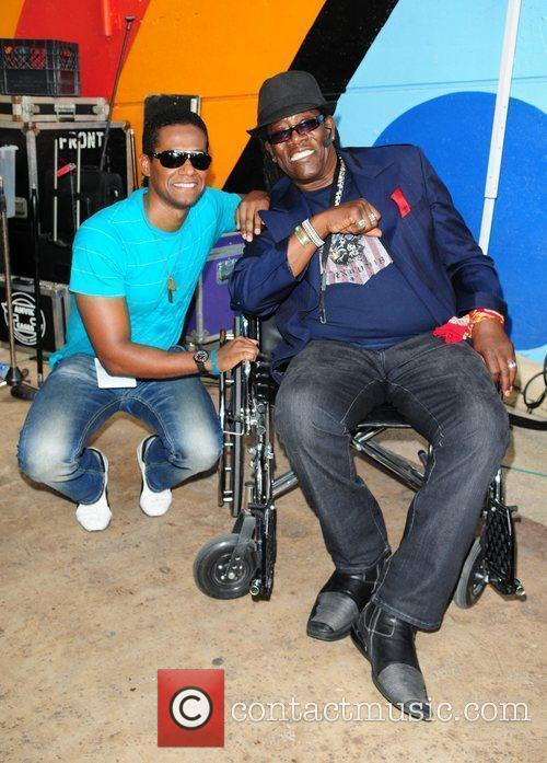 Ilo Ferreira and Clarence Clemons The Miami Dolphins...