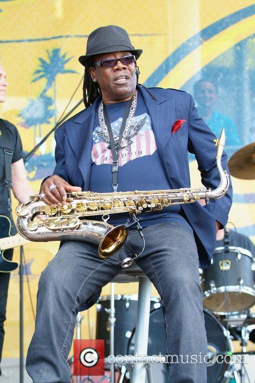 Clarence Clemons  performs at the Miami Dolphins...