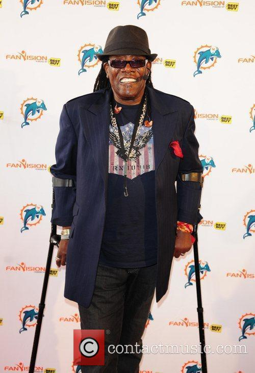 Clarence Clemons The Miami Dolphins Tailgate Concert held...