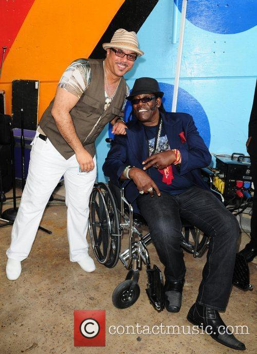 Howard Hewett and Clarence Clemons 2