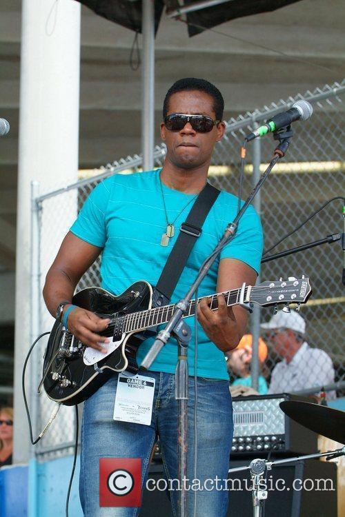 Performs at the Miami Dolphins Tailgate Concert held...