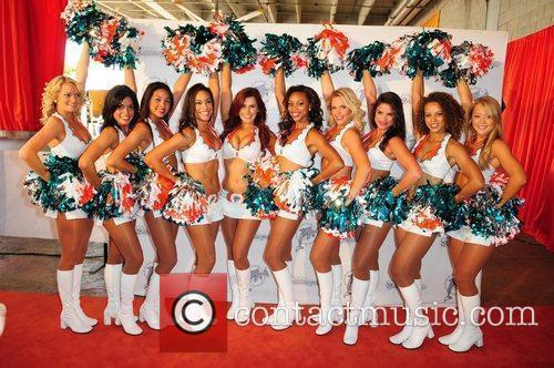 Miami Dolphins cheerleader  The Miami Dolphins Tailgate...