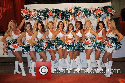 The Miami Dolphins Celebrity Orange Carpet at Sun...