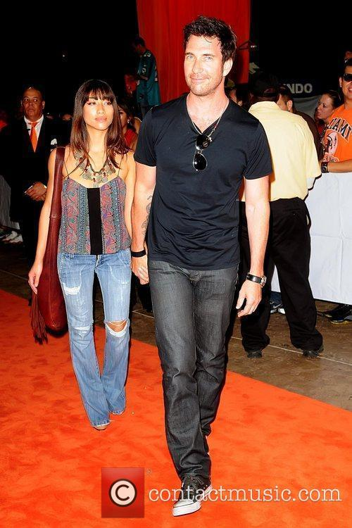 Shasi Wells and Dylan McDermott Miami Dolphins vs....