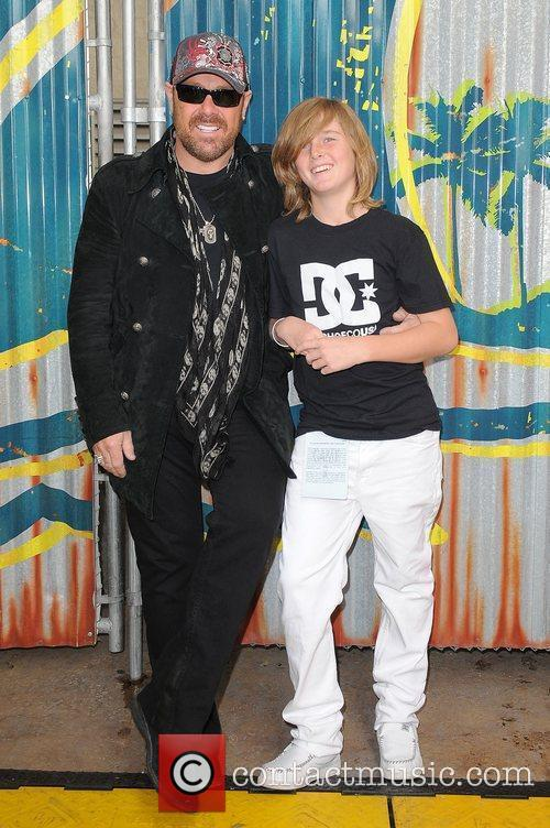 Jason Bonham and Jager Bonham appear prior to...