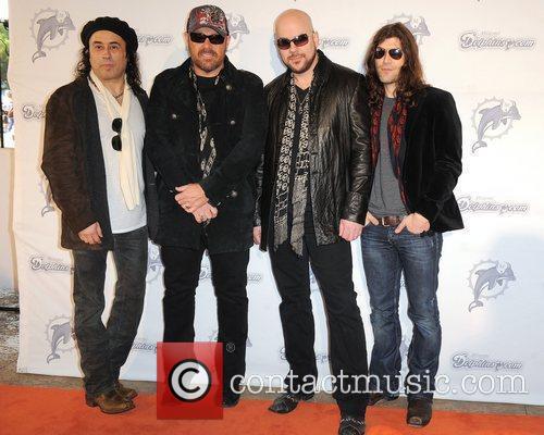 L-R Tony Cantania,Jason Bonham,James Dylan and Michael Devin...