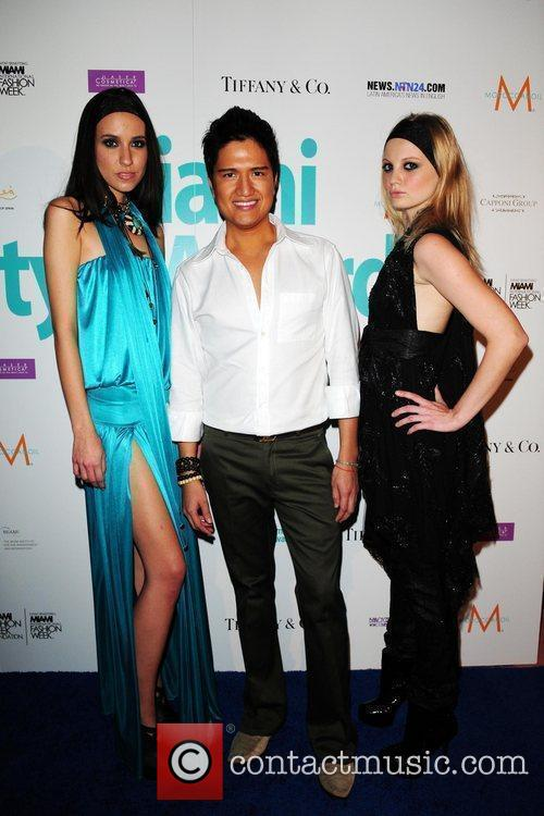 Model Tanya Chuchaeva, Fashion designer Julian Chang and...
